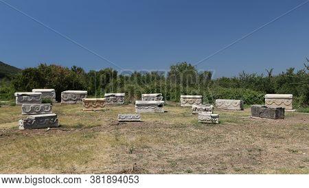 Sarcophagus In Ephesus Ancient City In Selcuk Town, Izmir City, Turkey