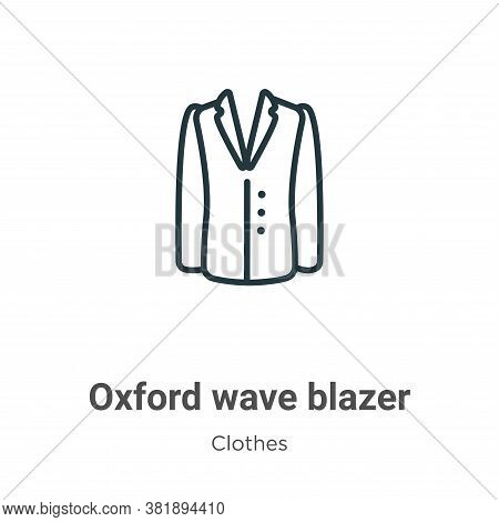 Oxford wave blazer icon isolated on white background from clothes collection. Oxford wave blazer ico