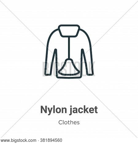 Nylon jacket icon isolated on white background from clothes collection. Nylon jacket icon trendy and