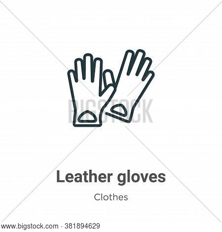 Leather gloves icon isolated on white background from clothes collection. Leather gloves icon trendy
