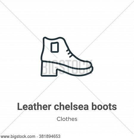 Leather chelsea boots icon isolated on white background from clothes collection. Leather chelsea boo