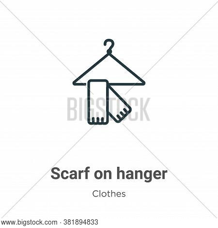 Scarf on hanger icon isolated on white background from clothes collection. Scarf on hanger icon tren