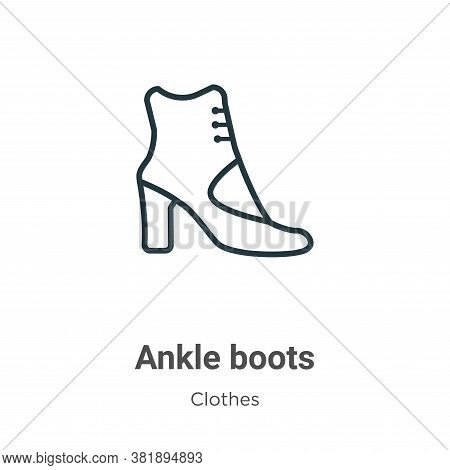 Ankle boots icon isolated on white background from clothes collection. Ankle boots icon trendy and m