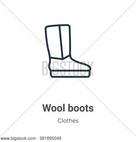 Wool boots icon isolated on white background from clothes collection. Wool boots icon trendy and mod