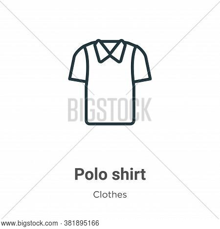 Polo shirt icon isolated on white background from clothes collection. Polo shirt icon trendy and mod