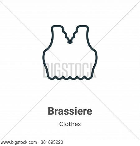 Brassiere icon isolated on white background from clothes collection. Brassiere icon trendy and moder