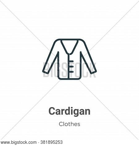 Cardigan Icon From Clothes Collection Isolated On White Background.