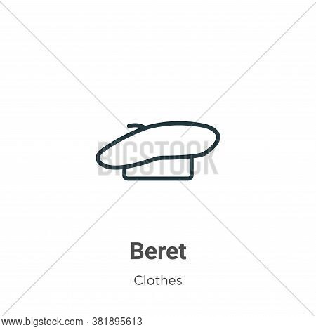 Beret icon isolated on white background from clothes collection. Beret icon trendy and modern Beret