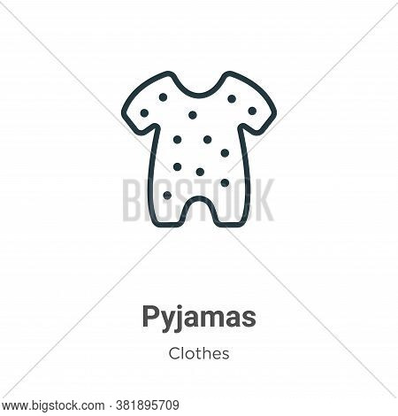 Pyjamas icon isolated on white background from clothes collection. Pyjamas icon trendy and modern Py