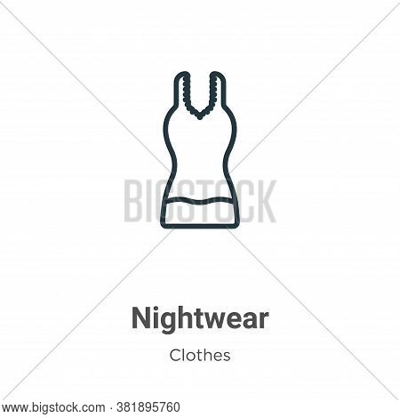 Nightwear icon isolated on white background from clothes collection. Nightwear icon trendy and moder