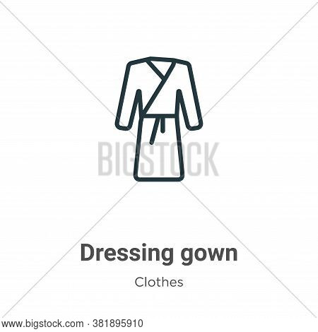 Dressing gown icon isolated on white background from clothes collection. Dressing gown icon trendy a