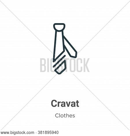 Cravat icon isolated on white background from clothes collection. Cravat icon trendy and modern Crav
