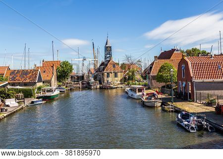 Hindeloopen, Friesland, Netherlands - August 5, 2020: Townscape Of The Picturesque Fishing Village H