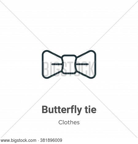 Butterfly tie icon isolated on white background from clothes collection. Butterfly tie icon trendy a