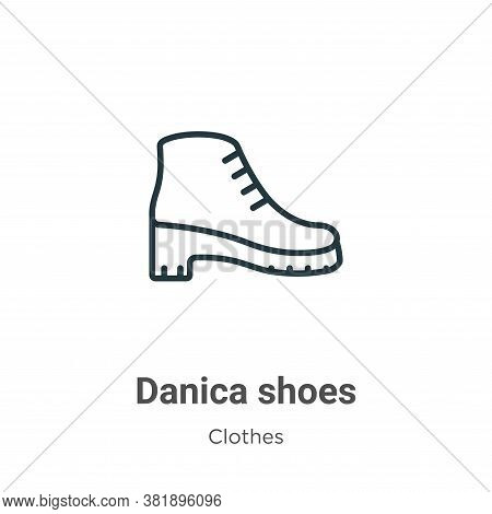Danica shoes icon isolated on white background from clothes collection. Danica shoes icon trendy and