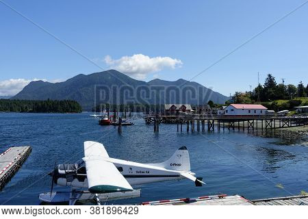 Tofino, British Columbia, Canada - August 5th, 2020: A View Of The Harbour In Tofino, Including A Se