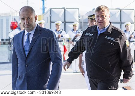 International Naval Exercise Breeze 2020. Burgas / Bulgaria / 07.17.20.president Of The Republic Of