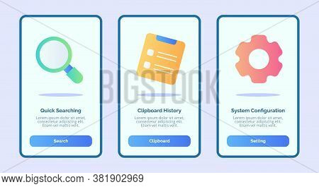 Quick Searching Clipboard History Sistem Configuration For Mobile Apps Template Banner Page Ui With