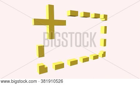 Minus, Plus, Colon And Full Stop 3d Signs, With Big Fonts Isolated On White Background. 3d Rendering