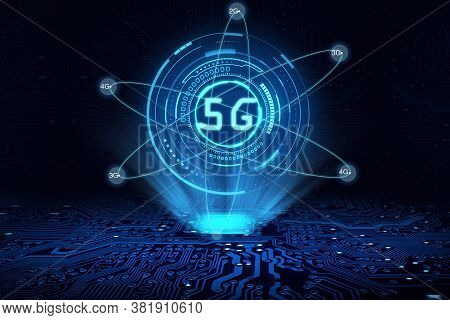 The Concept Of 5g Network, New Generation Networks. High-speed Mobile Internet, Business, Modern Tec