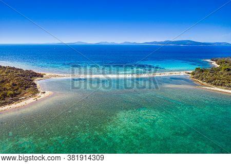 Amazing Exotic Islands With Natural Bridge In Turquoise Sea On The Island Of Dugi Otok On Adriatic S