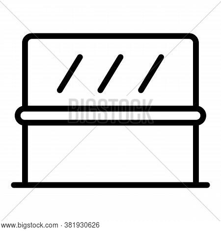 Ballet Barre Icon. Outline Ballet Barre Vector Icon For Web Design Isolated On White Background