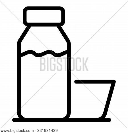 Juice Bottle Icon. Outline Juice Bottle Vector Icon For Web Design Isolated On White Background