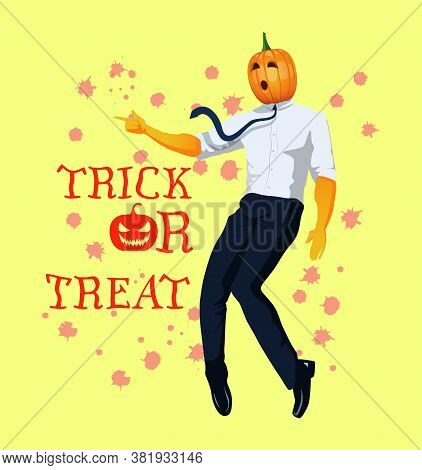 A Chic Man In A Carnival Face Mask Points His Finger And Stands On Tiptoes In A Dance Pose. Jack O L