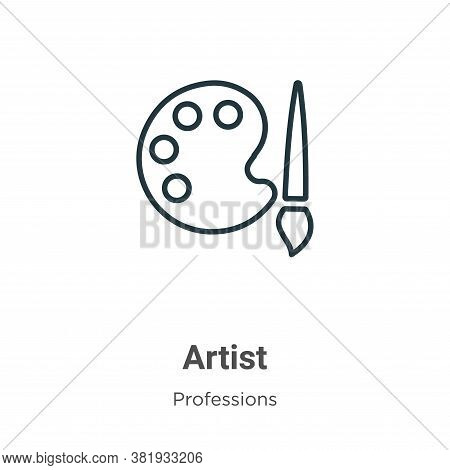 Artist icon isolated on white background from professions collection. Artist icon trendy and modern