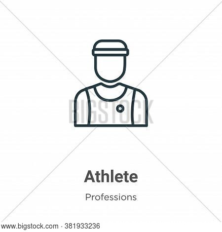 Athlete icon isolated on white background from professions collection. Athlete icon trendy and moder
