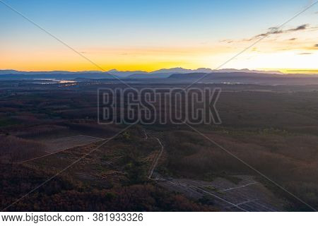Beautiful Sunrise At Three Rock Whale Of Phu Sing Mountain