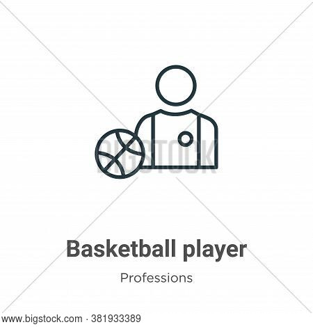 Basketball player icon isolated on white background from professions collection. Basketball player i