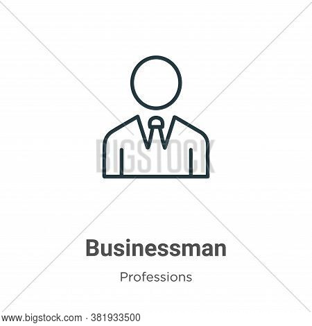 Businessman icon isolated on white background from professions collection. Businessman icon trendy a