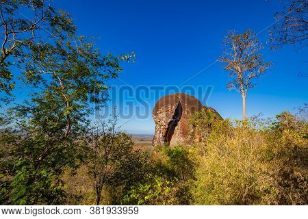 Elephant Shaped Stone Of Phu Sing Mountain