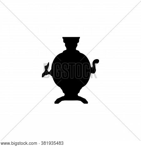 Samovar Black Sign Icon. Eps 10 Vector Illustration