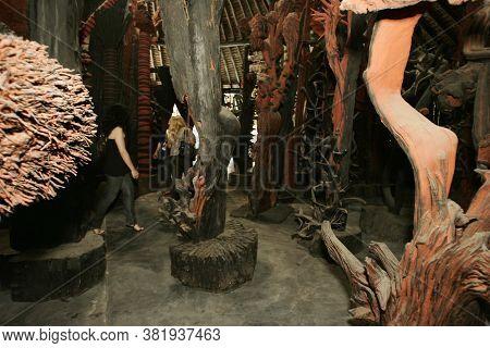 Nova Vicosa, Bahia / Brazil - September 3, 2009: Sculpture By Visual Artist And Environmental Activi