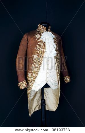 Antique costume for aristocratic men