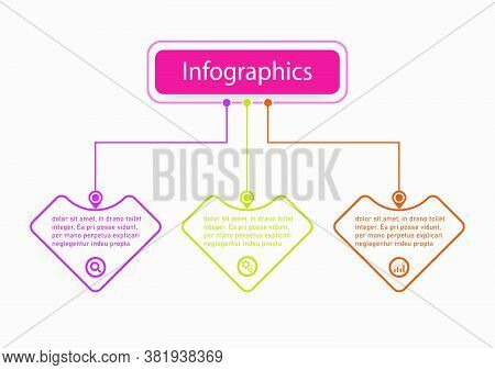 The Line Vector Design Template Flow Chart Graphic. Planning Infographic Design Business Infographic