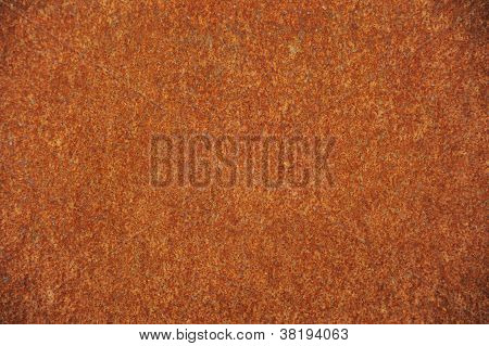 speckled rusty iron background plate