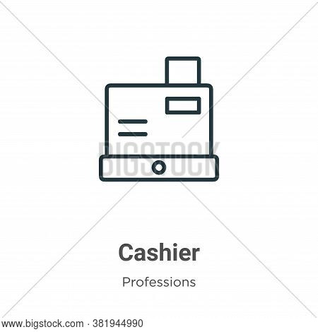 Cashier icon isolated on white background from professions collection. Cashier icon trendy and moder