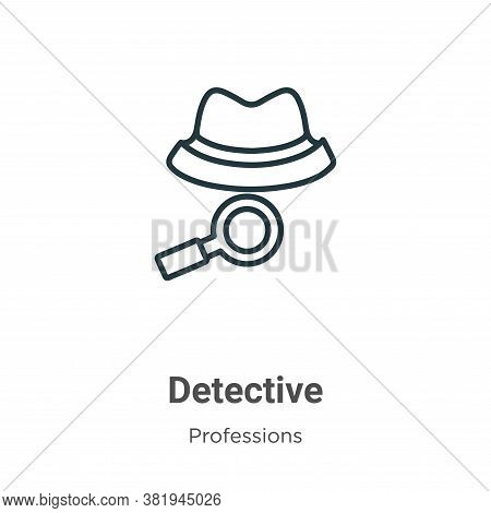 Detective icon isolated on white background from professions collection. Detective icon trendy and m
