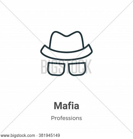 Mafia icon isolated on white background from professions collection. Mafia icon trendy and modern Ma