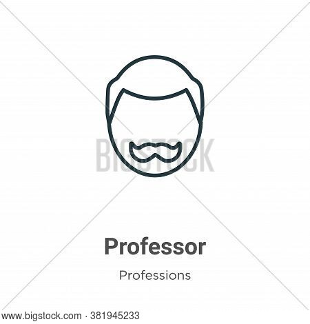 Professor icon isolated on white background from professions collection. Professor icon trendy and m