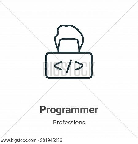 Programmer icon isolated on white background from professions collection. Programmer icon trendy and