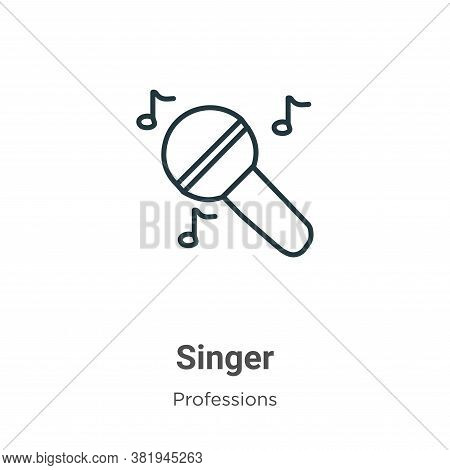 Singer icon isolated on white background from professions collection. Singer icon trendy and modern