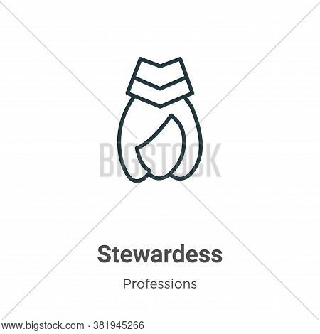 Stewardess icon isolated on white background from professions collection. Stewardess icon trendy and