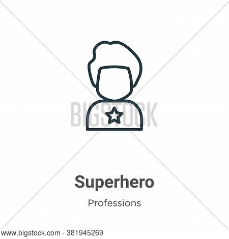 Superhero icon isolated on white background from professions collection. Superhero icon trendy and m