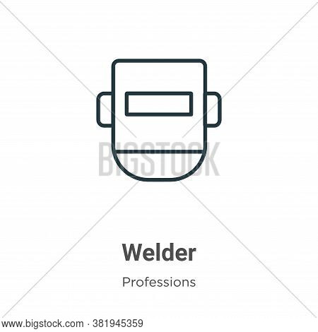 Welder icon isolated on white background from professions collection. Welder icon trendy and modern