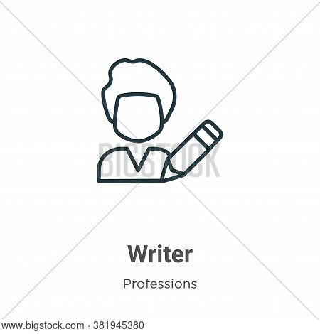 Writer icon isolated on white background from professions collection. Writer icon trendy and modern
