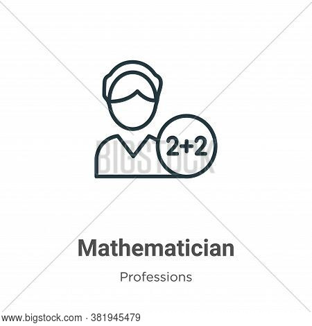 Mathematician icon isolated on white background from professions collection. Mathematician icon tren